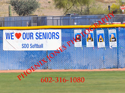 4-10-19 - O'Connor vs Mountain Ridge - Softball - Senior Night