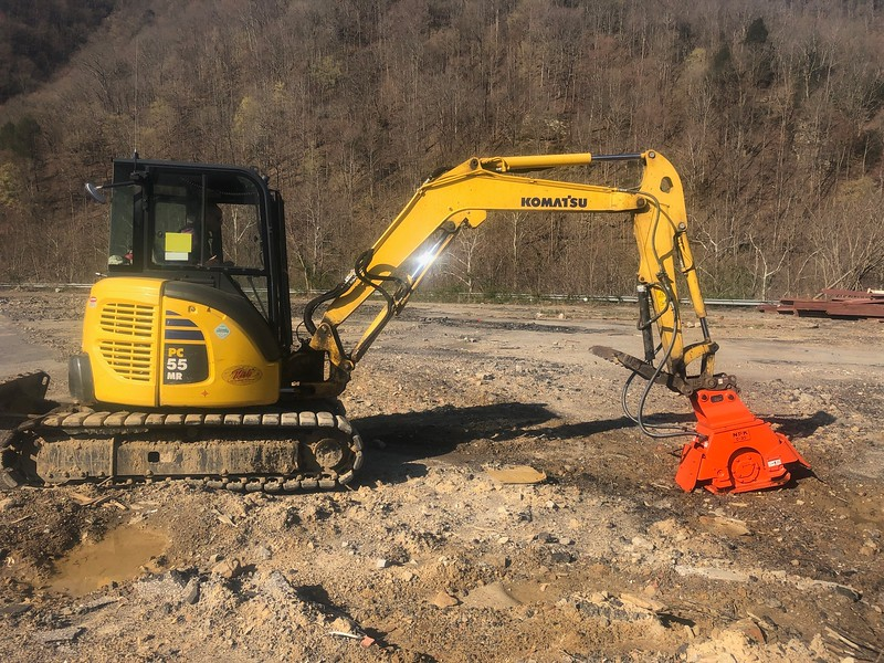 NPK C3D plate compactor on Komatsu PC55 - Holly Smoke Construction in Logan, WV  Apr2019 (1).jpg