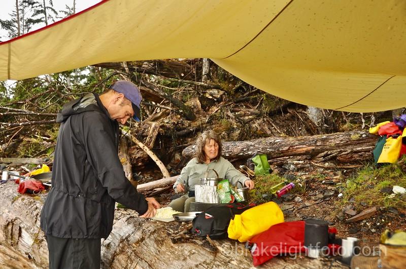 Camp on Sialun Bay