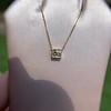 .70ct French Cut Diamond Bezel Pendant, 18kt Yellow Gold 12