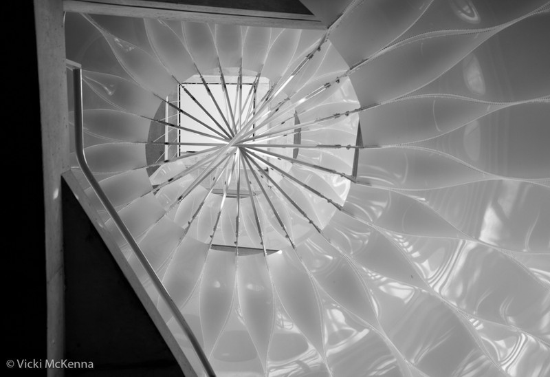 FAST art installation to celebrate MIT's 150th anniversary. Installed in the stairwell of Building E23