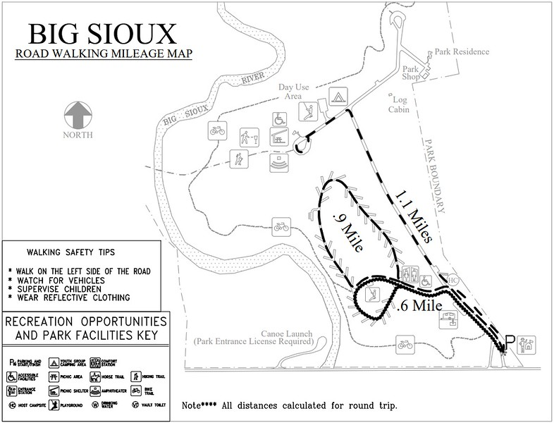 Big Sioux Recreation Area (Road Walking Map)