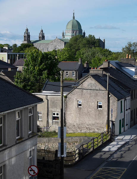 The cathedral in Galway as seen on a sunny day from Molly's balcony.