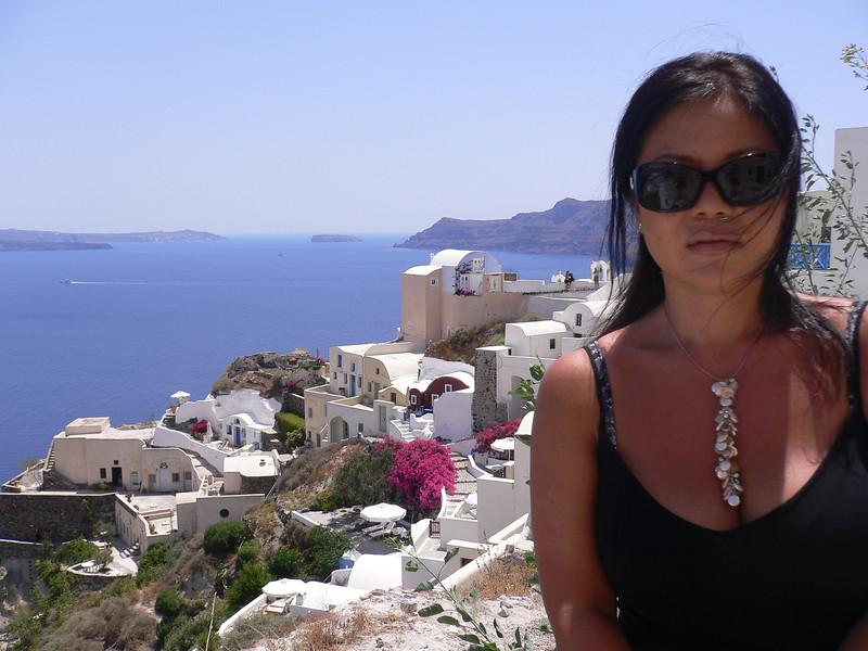 He Yong in Santorini