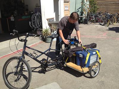 Mobile bike shop @ SBCC Community Market