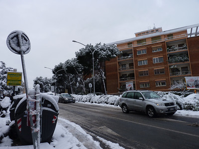Roma neve 4 febbraio 2012