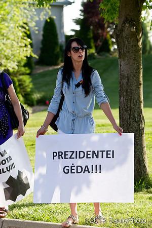 Lithuanian President's visit Lemont 2012