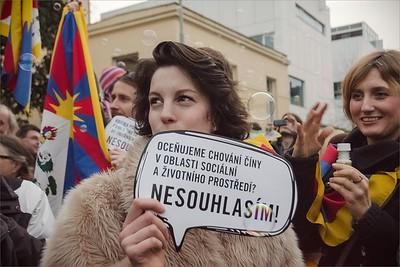 Tibetan Uprising Day Demonstration 2015 Prague
