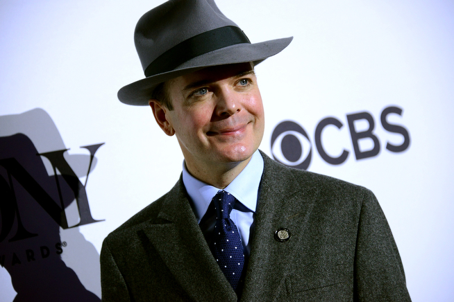 ". Actor Jefferson Mays, nominee for Best Performance by an Actor in a Leading Role in a Musical for ""A Gentleman\'s Guide to Love & Murder,\"" attends the 2014 Tony Awards Meet The Nominees Press Reception at the Paramount Hotel on April 30, 2014 in New York City.  (Photo by Gary Gershoff/Getty Images for Tony Awards Productions)"