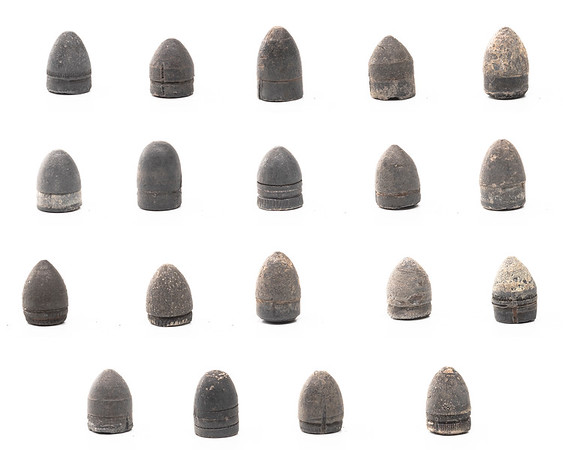 Bullets from 9mm Pinfire Cartridges from the White & Munhall Reference Collection