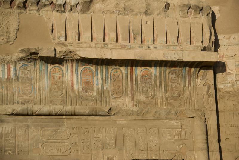 Heiroglyphs in color at the Temple of Kom Ombo - Komombo, Egypt