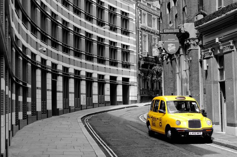 Yellow Taxi in London