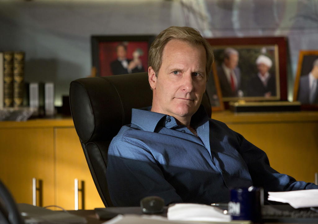 """. This undated publicity image released by HBO shows Jeff Daniels as Will McAvoy in the news drama series, \""""The Newsroom.\""""  Daniels was nominated for an Emmy Award for best actor in a drama series on, Thursday July 10, 2014. The 66th Primetime Emmy Awards will be presented Aug. 25 at the Nokia Theatre in Los Angeles. (AP Photo/HBO, Melissa Moseley)"""