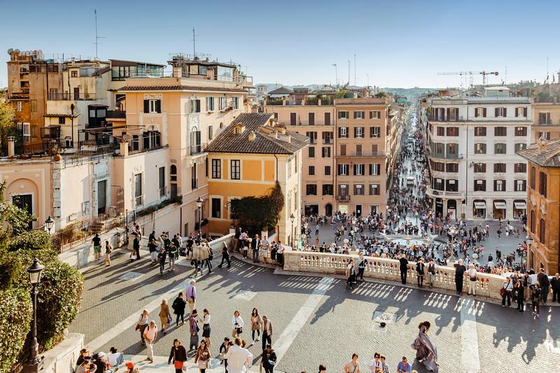 Piazza di Spagna and Via Condotti in Rome, Italy