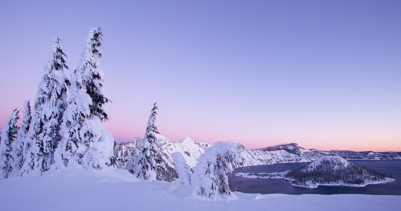 Pre-dawn on the crater rim, Crater Lake National Park