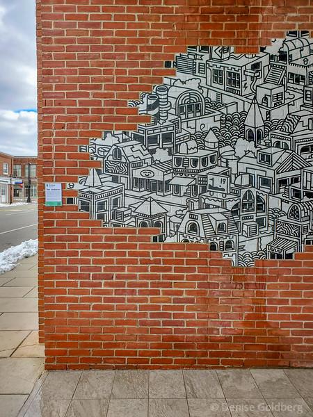 mural by Ben Jundanian, Main St., Andover, MA