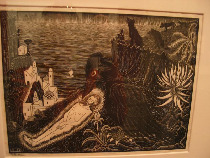 Sint Vincent Martyr, 1925 (woodcut)