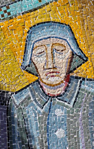 Mosaic Detail, Church of St. Barbara by Hundertwasser in Barnbac