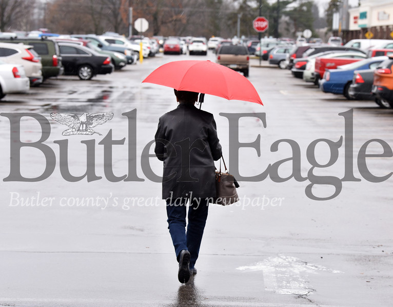 Harold Aughton/Butler Eagle: The cold temperatures and rain didn't deter shoppers Monday, Dec. 2, 2019.