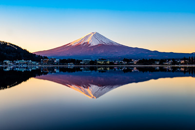 Fuji San - Sunrise and perfect reflection