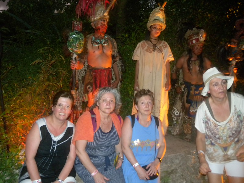 Xcaret - 25 The boundaries between humans dancing as supernatural beings and supernatural beings materializing in human rituals. The distinction between the two was never sharply made. Through dance, people became gods and gods became people even if it were only for a moment