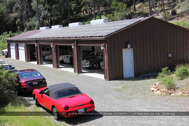 The overflow garage.