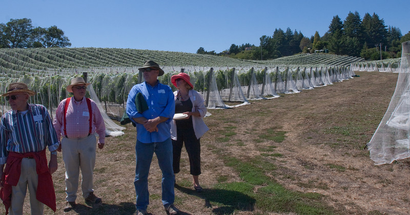 On the way back to the winery, Judy told us about the neighbors and opportunities that they had to purchase adjacent land.