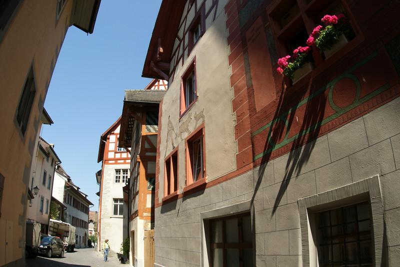 This is in the spectacular village of Stein am Rhein.