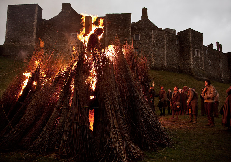 Burning at Dover Castle, England