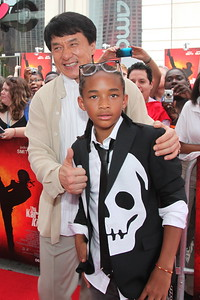 Film stars Jaden Smith (son of Will Smith) and Jackie Chan walk the red carpet for the Chicago screening of the Karate Kid at the AMC River East 21 in Chicago, IL,  USA on Wednesday 26, May 2010.