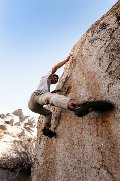 Bouldering in Bishop, California.