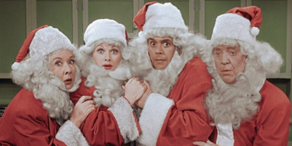 ". ""I Love Lucy Christmas Special\"" The Ricardos and the Mertzes (from left: Vivian Vance, Lucille Ball, Desi Arnaz and William Frawley)   (CBS)"