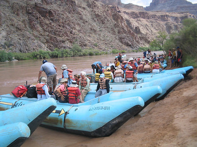 Grand Canyon Colorado River Raft and Helicopter Elderhostel Adventure 2006