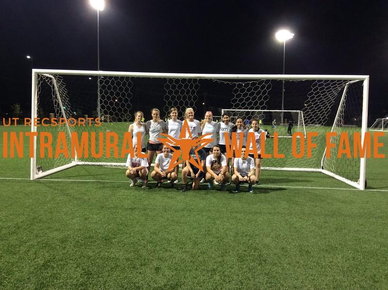 7v7 Spring 2018 Soccer Women's Runner Up Kickin' GrAss