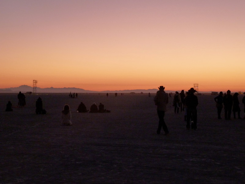 Watching sunrise from the Temple of Transition