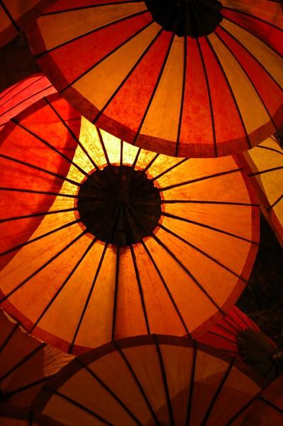 Paper Parasols - Luang Prabang, Laos