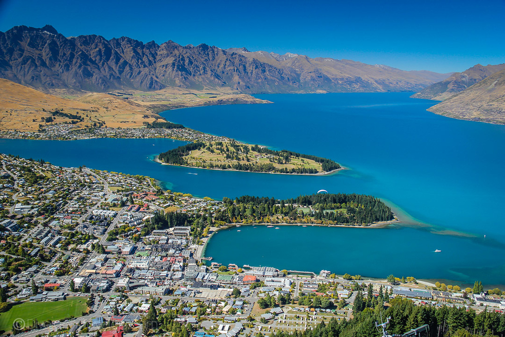 Overlook of Queenstown, New Zealand
