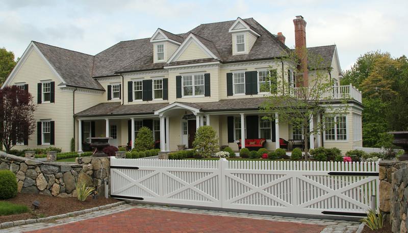 177 - 419718 - New Canaan CT - Custom Chestnut Hill Driveway Gate