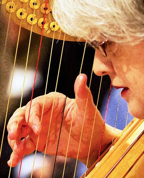 Harpist's hand: Dry Brush rendering