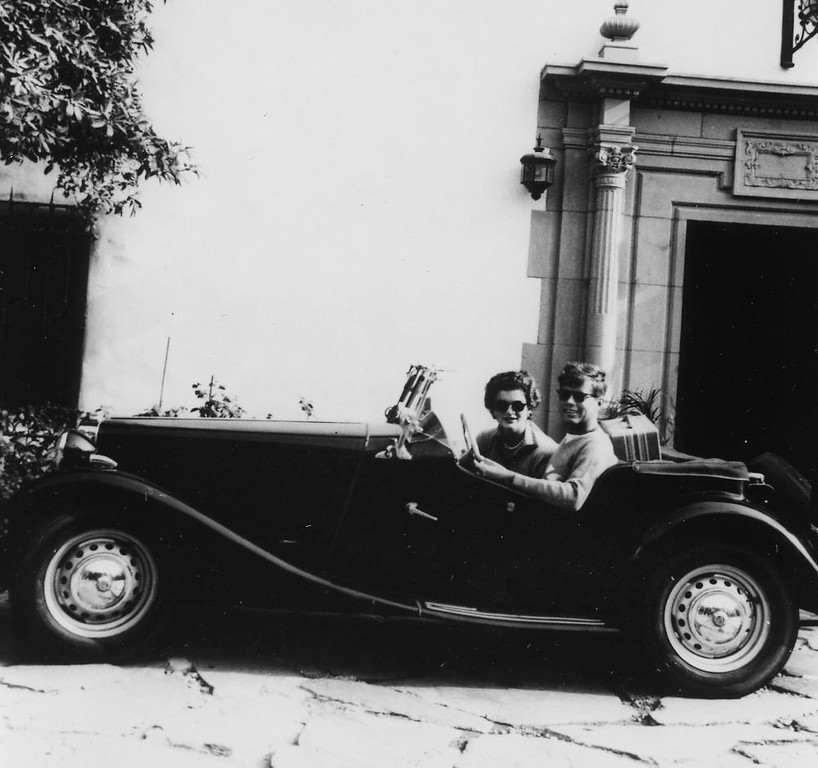 . The newlyweds sit in a convertible while on their honeymoon in Acapulco, Mexico, in September 1953.