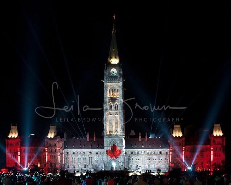 """""""Northern Lights"""", Parliament Hill, Ottawa"""
