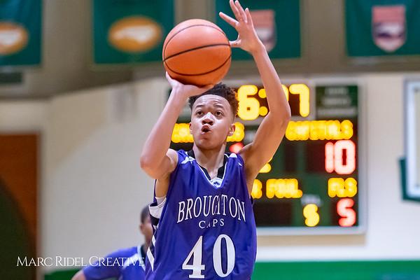 Broughton JV boys basketball vs Cardinal Gibbons. February 7, 2019. 750_3322
