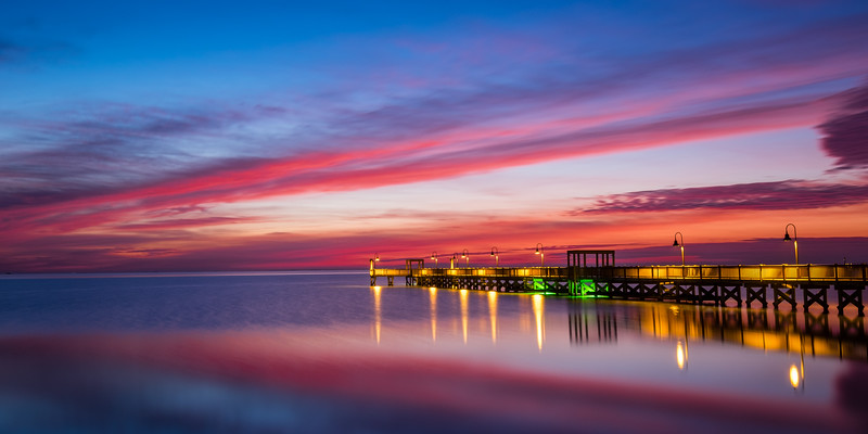 Rockport Pier Calm Sunrise