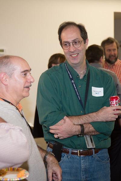 Marc Secunda with Oren Sheinman -- Swift spacecraft 10th anniversary party, held at the newly renovated GSFC Recreation Center, NASA/GSFC (November 24, 2014)