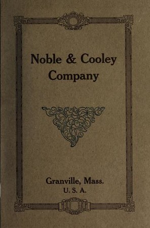 1922 Noble & Cooley Catalog