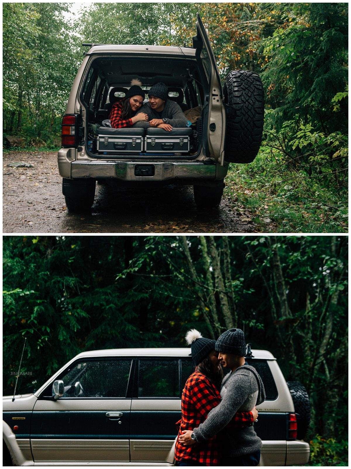 OffRoading Engagement Photos Chilliwack Pajero