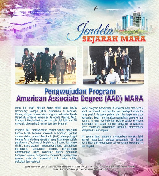 Pengwujudan Program American Associate Degree (AAD) MARA