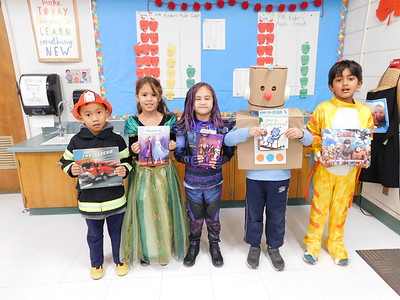 Palm Crest Kindergartners Play Book Characters