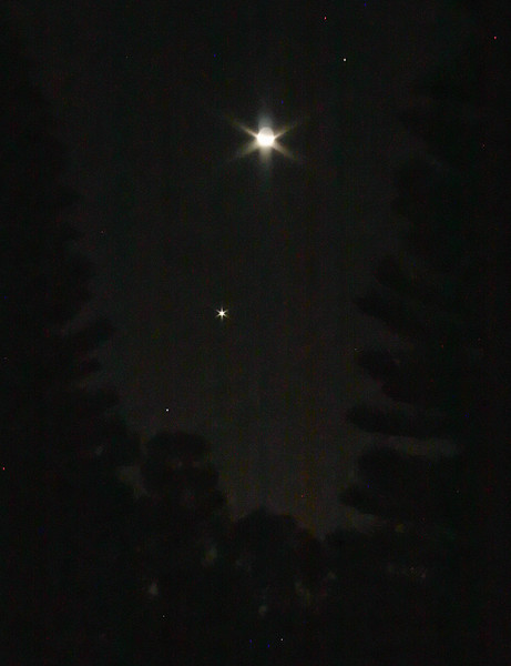 Spica, Venus, Moon, Saturn Conjunction (W-E) - 9/9/2013 (Processed single image)