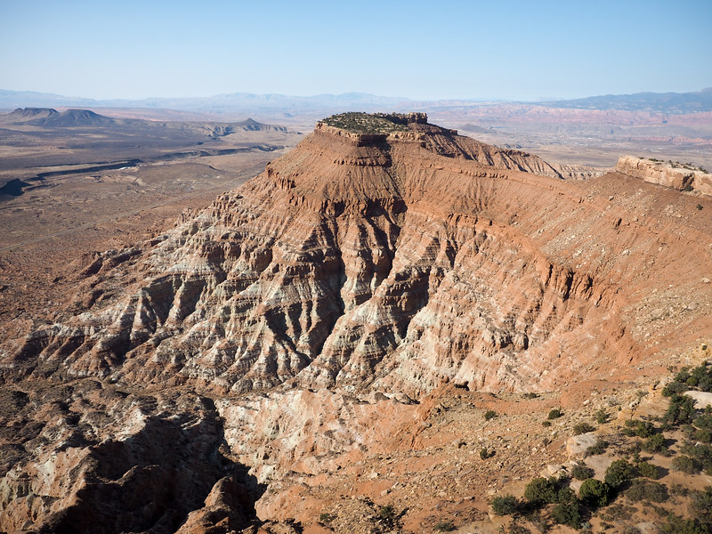 Flying over southern Utah in a helicopter
